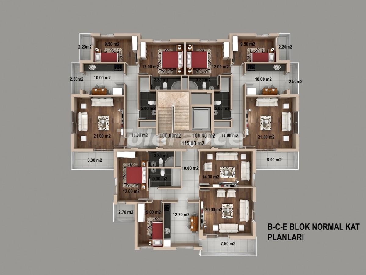 Просторные квартиры в Кепезе, Анталия от одного из лучших застройщиков - 1515 | Tolerance Homes