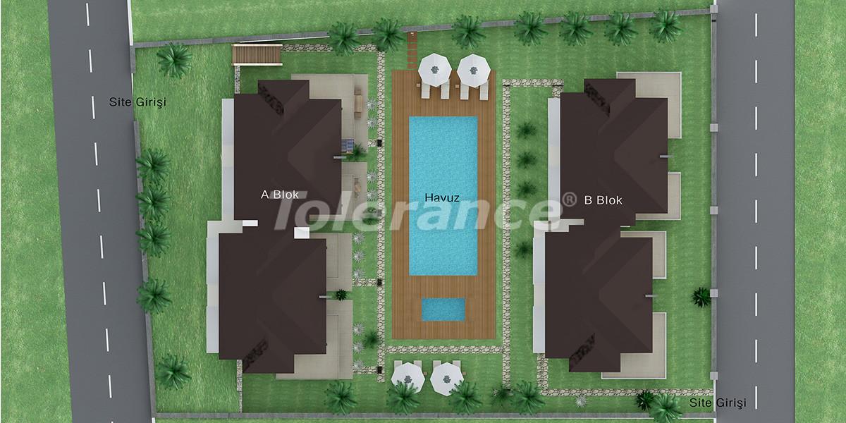 Недорогой дом в Гейнюке, Кемер с 4-мя спальнями в комплексе с бассейном - 1871   Tolerance Homes
