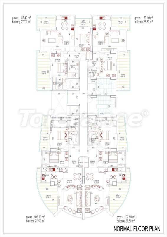 Элитные апартаменты в Махмутларе, Аланья с собственной пристанью - 2530 | Tolerance Homes