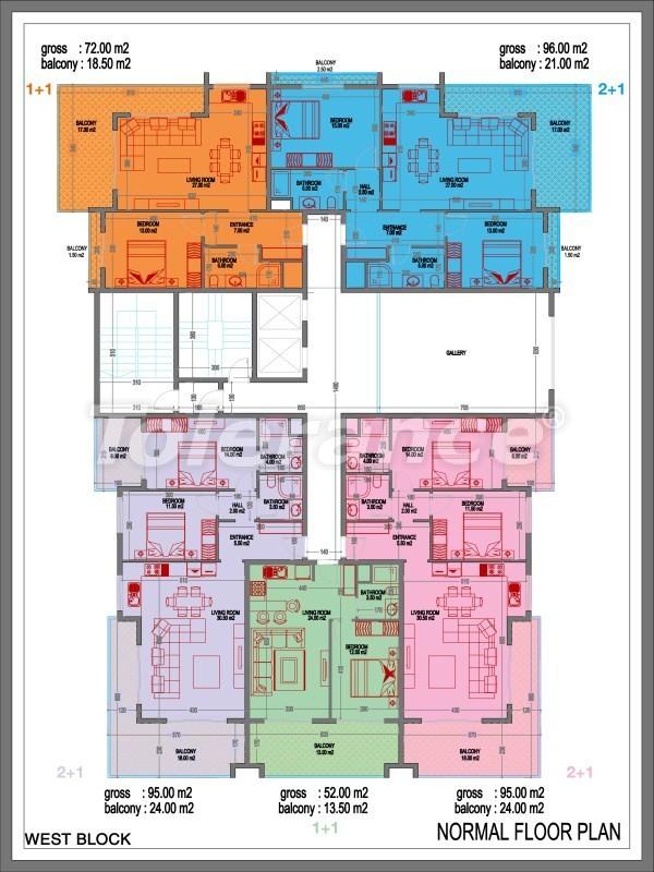 Апартаменты класса люкс в Махмутларе, Аланья в 400 м от пляжа - 2552   Tolerance Homes