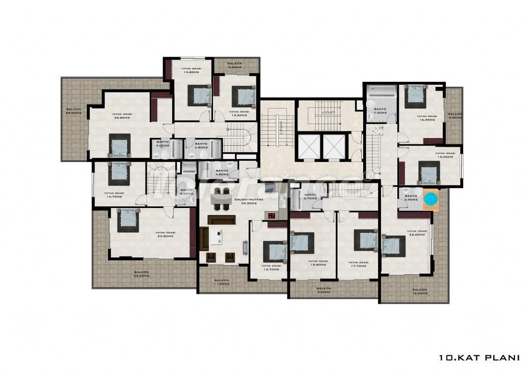 Квартиры в Махмутларе, Алания от надежного застройщика - 2624 | Tolerance Homes