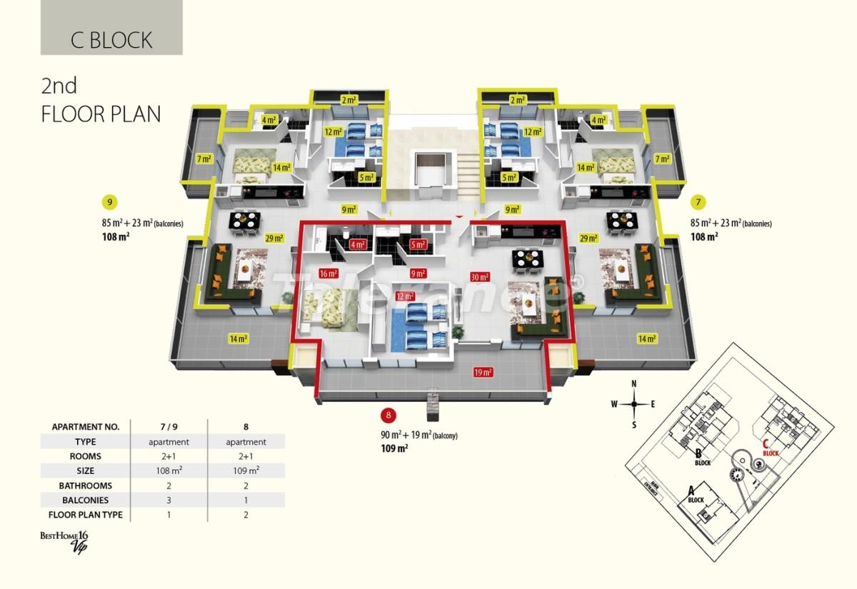 Комплекс апартаментов люкс класса в Оба, имеющий инфраструктуру пятизвездочного отеля - 2685 | Tolerance Homes