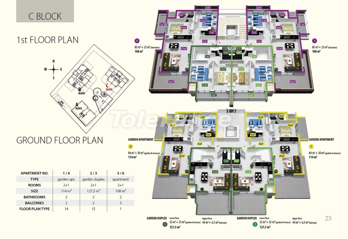 Комплекс апартаментов люкс класса в Оба, имеющий инфраструктуру пятизвездочного отеля - 2684 | Tolerance Homes