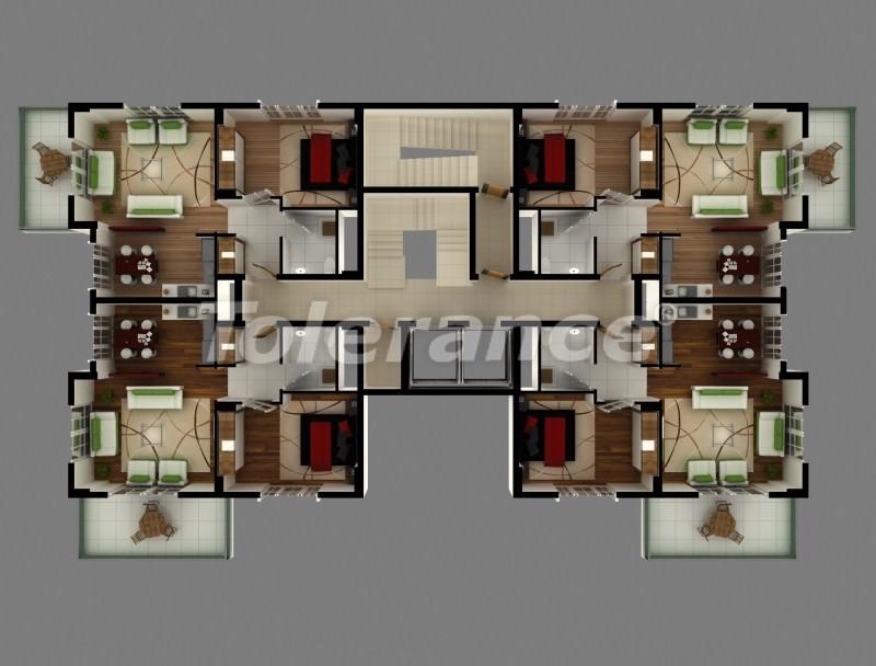 Квартиры в новом комплексе в Махмутларе в 250 м от моря - 2781   Tolerance Homes