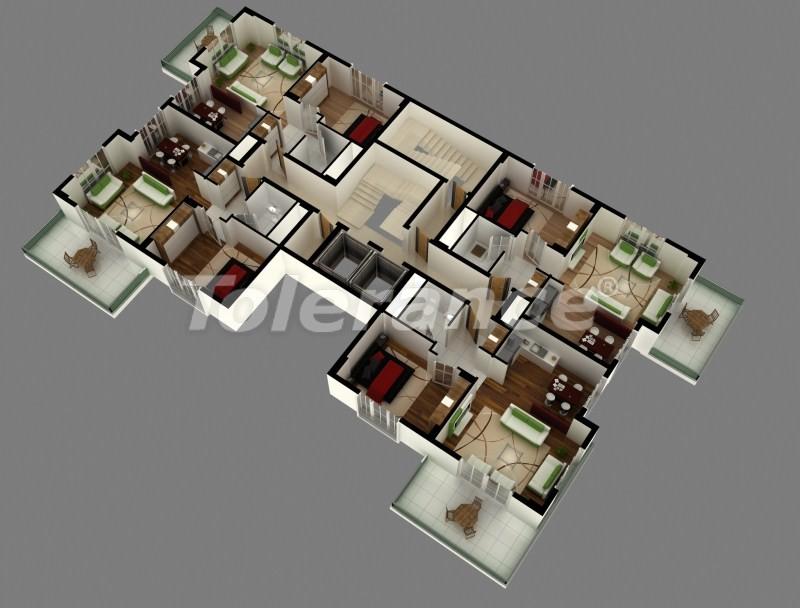 Квартиры в новом комплексе в Махмутларе в 250 м от моря - 2782   Tolerance Homes