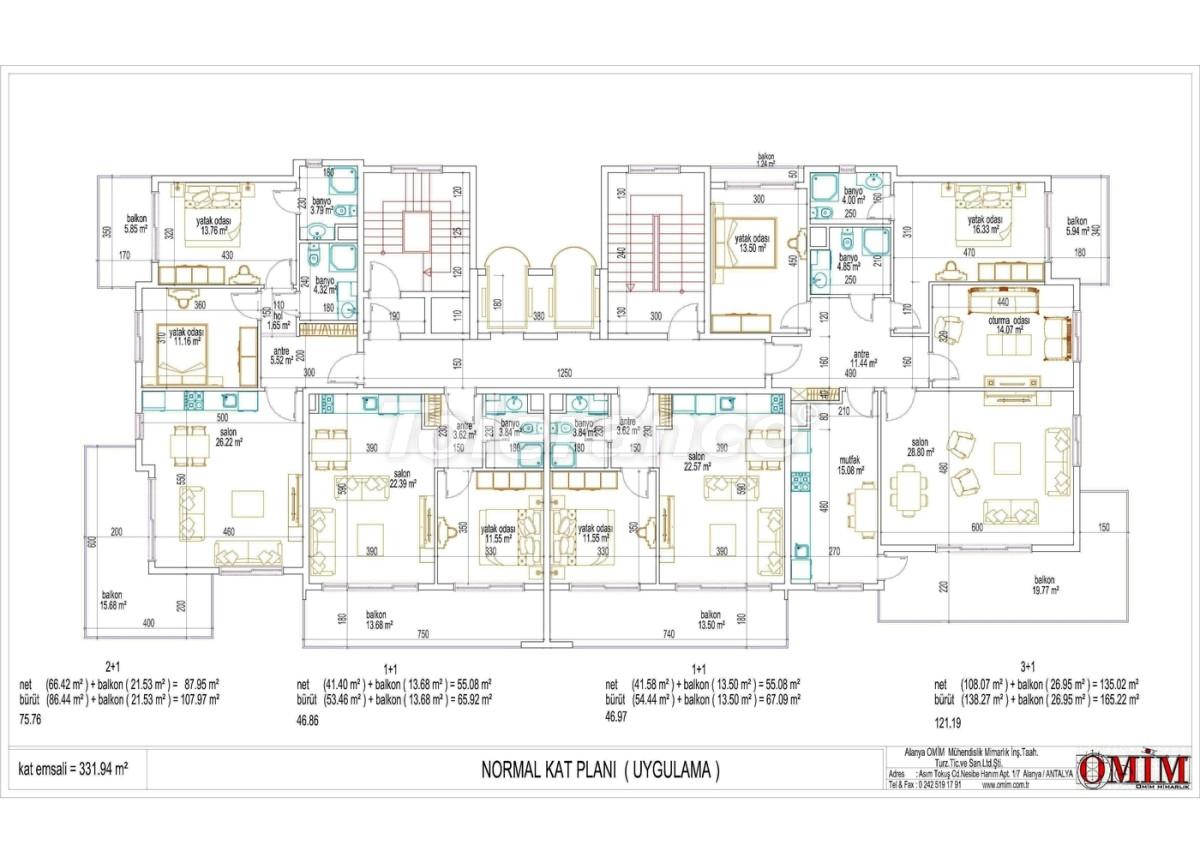 Квартиры в новом комплексе  в Махмутларе, Алания - 2866 | Tolerance Homes
