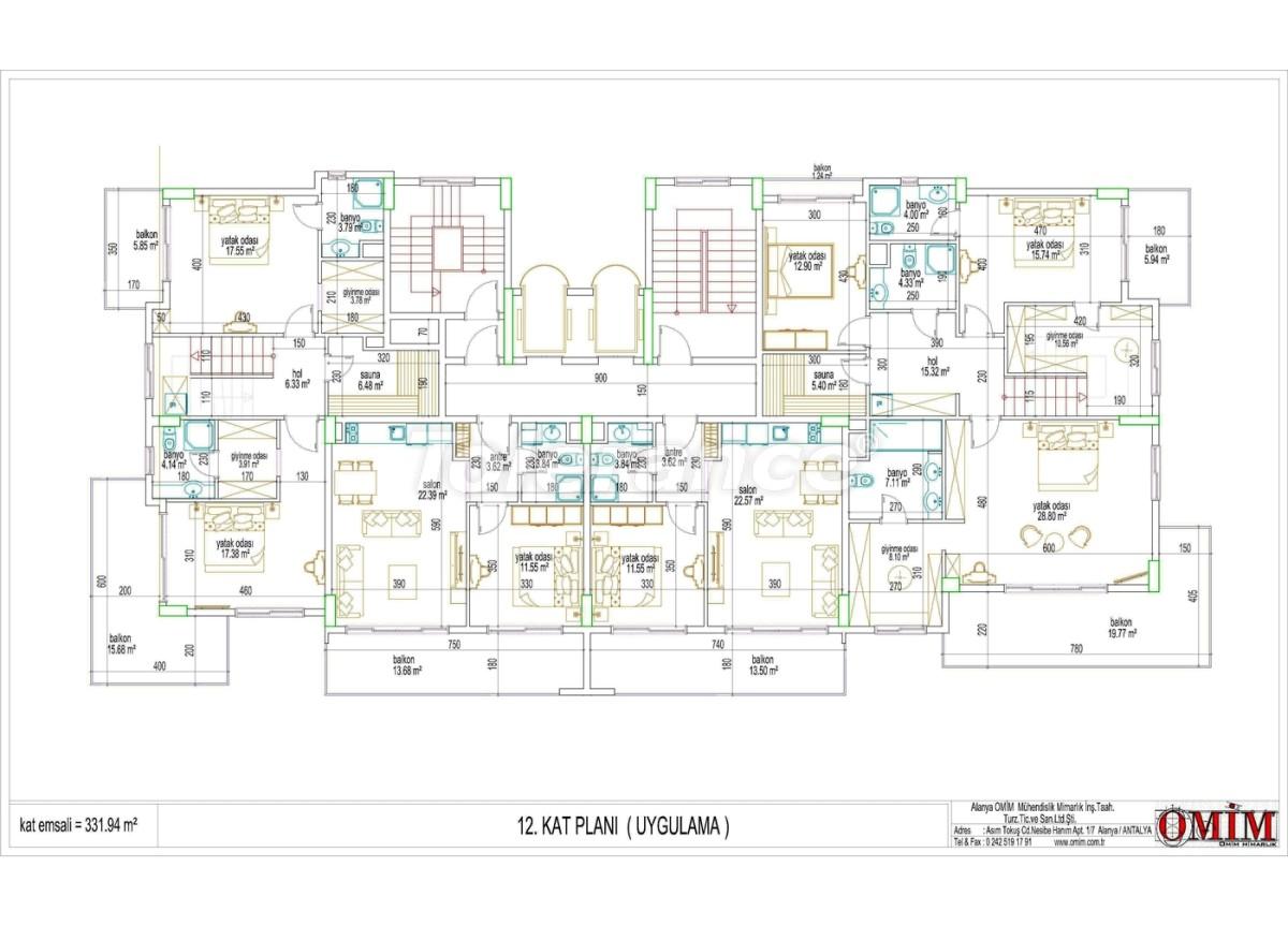 Квартиры в новом комплексе  в Махмутларе, Алания - 2867 | Tolerance Homes