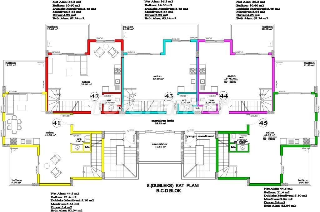 Апартаменты в Авсалларе, Алания, уникальный комплекс рядом с морем - 2891 | Tolerance Homes