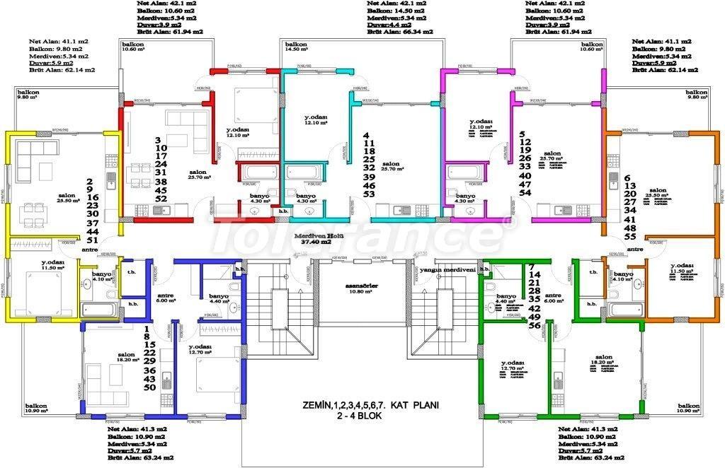 Апартаменты в Авсалларе, Алания, уникальный комплекс рядом с морем - 2885 | Tolerance Homes