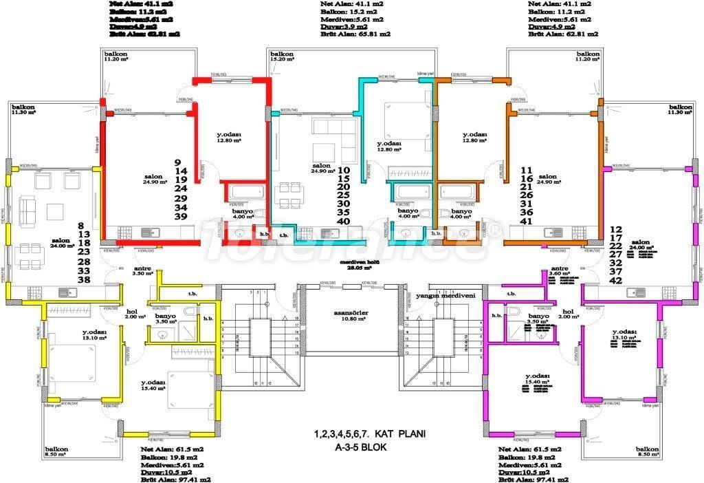 Апартаменты в Авсалларе, Алания, уникальный комплекс рядом с морем - 2886 | Tolerance Homes