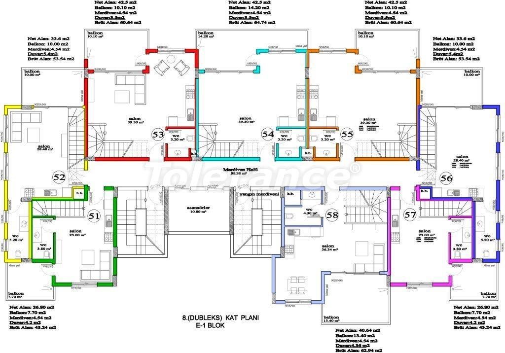 Апартаменты в Авсалларе, Алания, уникальный комплекс рядом с морем - 2896 | Tolerance Homes
