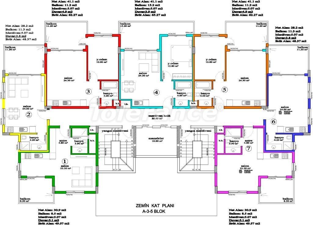 Апартаменты в Авсалларе, Алания, уникальный комплекс рядом с морем - 2889 | Tolerance Homes