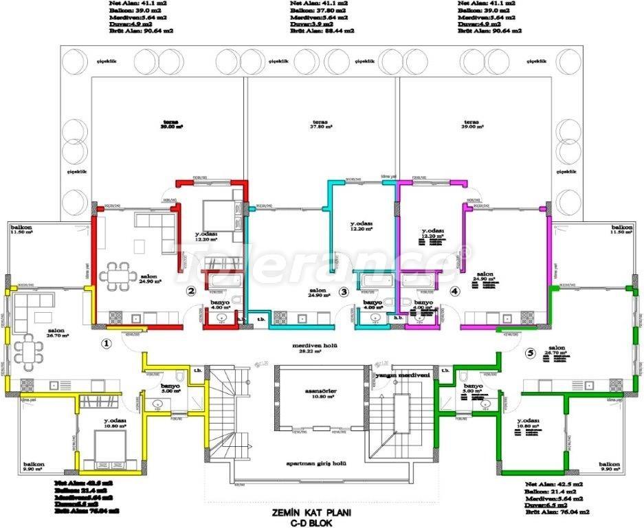 Апартаменты в Авсалларе, Алания, уникальный комплекс рядом с морем - 2894 | Tolerance Homes