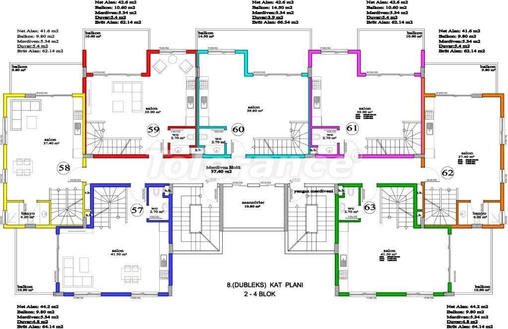 Апартаменты в Авсалларе, Алания, уникальный комплекс рядом с морем - 2883 | Tolerance Homes