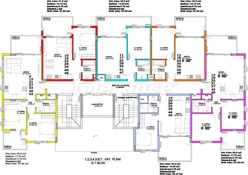 Апартаменты в Авсалларе, Алания, уникальный комплекс рядом с морем - 2895 | Tolerance Homes