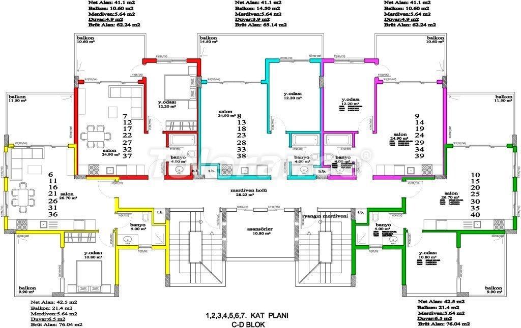 Апартаменты в Авсалларе, Алания, уникальный комплекс рядом с морем - 2893 | Tolerance Homes