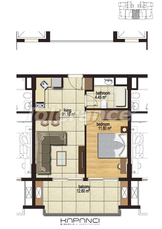 Квартиры в  Махмутлар, Алания от надежного застройщика - 2914 | Tolerance Homes