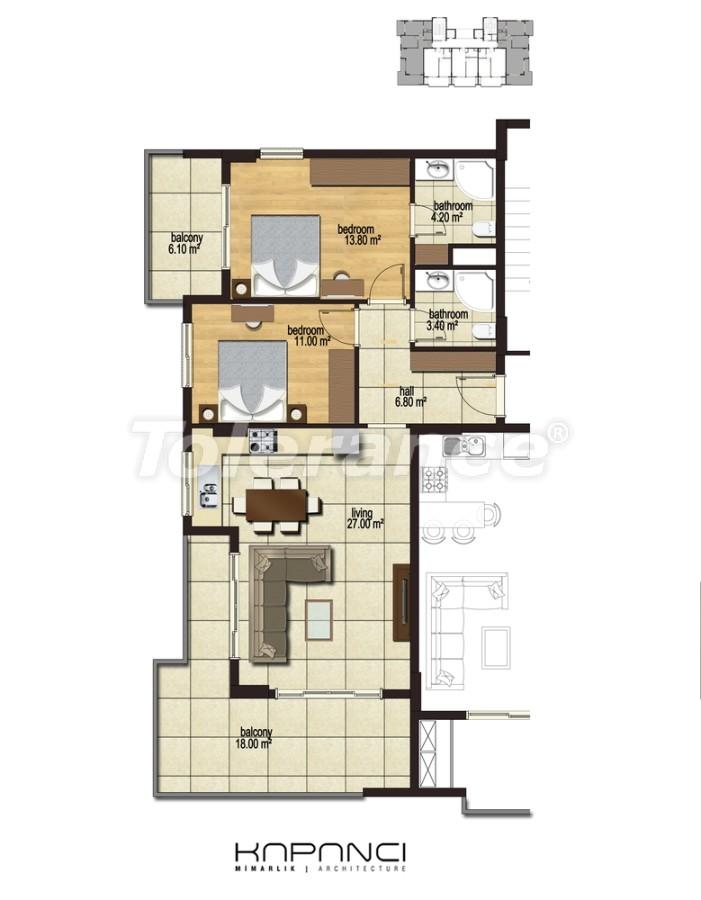 Квартиры в  Махмутлар, Алания от надежного застройщика - 2913 | Tolerance Homes