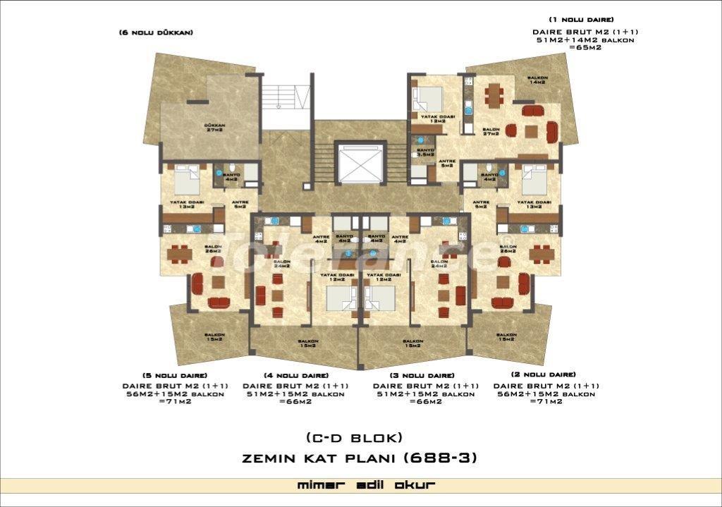 Квартиры в Оба в комплексе с инфраструктурой - 2976 | Tolerance Homes