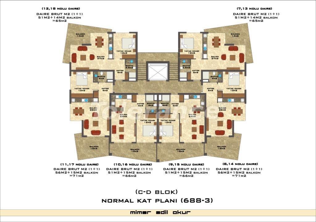 Квартиры в Оба в комплексе с инфраструктурой - 2977 | Tolerance Homes