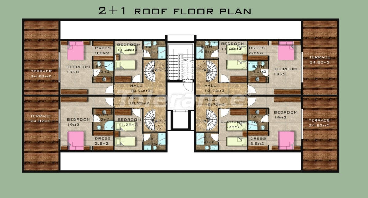 Элитные квартиры в 50 м от пляжа Клеопатры в Аланье - 3368 | Tolerance Homes