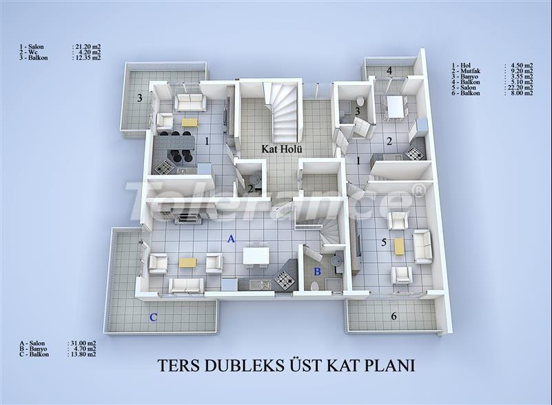 Блок апартаментов в Коньяалты, Анталья в 100 метрах от моря - 17035 | Tolerance Homes
