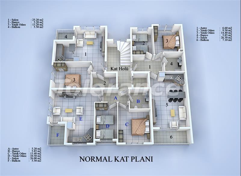 Блок апартаментов в Коньяалты, Анталья в 100 метрах от моря - 17033 | Tolerance Homes