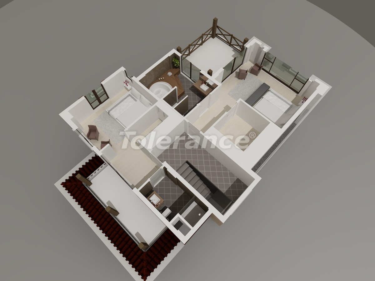 Виллы в Коньяалты, Анталия  класса люкс с видом на горы Торос - 3953 | Tolerance Homes