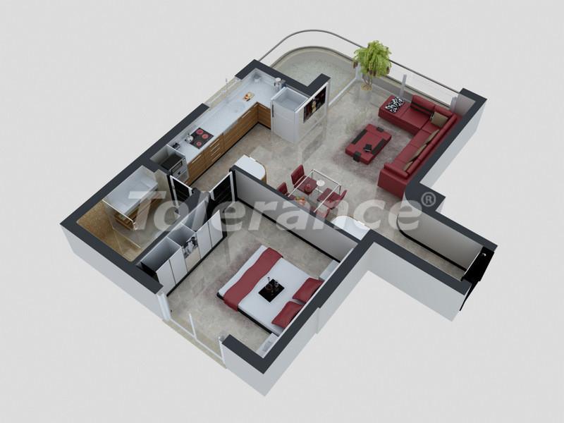 Квартиры в Коньяалты, Анталия с полным комплектом мебели и техники в 100 метрах от моря - 4091   Tolerance Homes