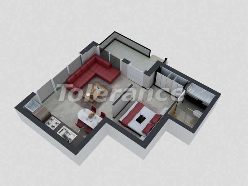 Квартиры в Коньяалты, Анталия с полным комплектом мебели и техники в 100 метрах от моря - 4090   Tolerance Homes