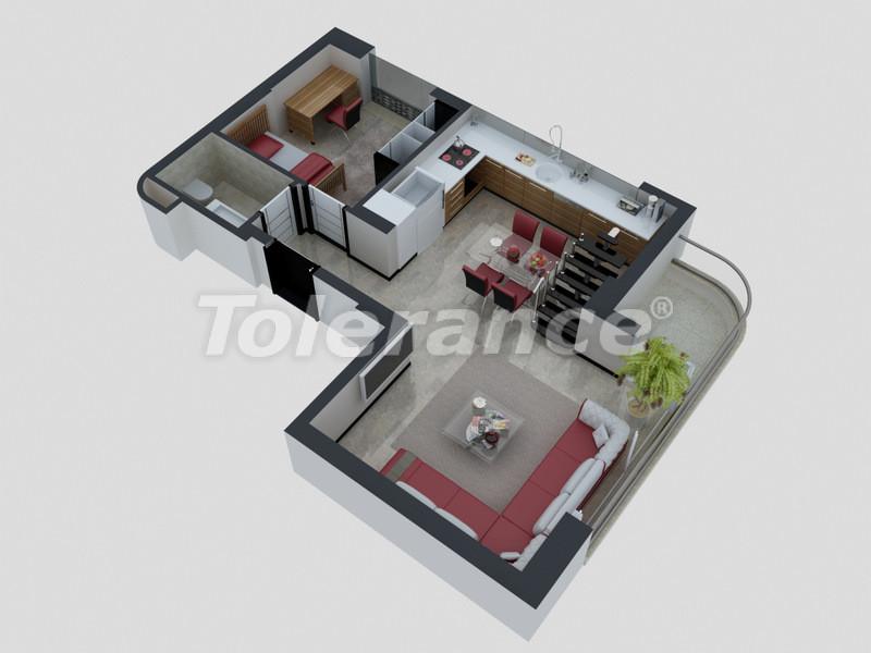 Квартиры в Коньяалты, Анталия с полным комплектом мебели и техники в 100 метрах от моря - 4093   Tolerance Homes