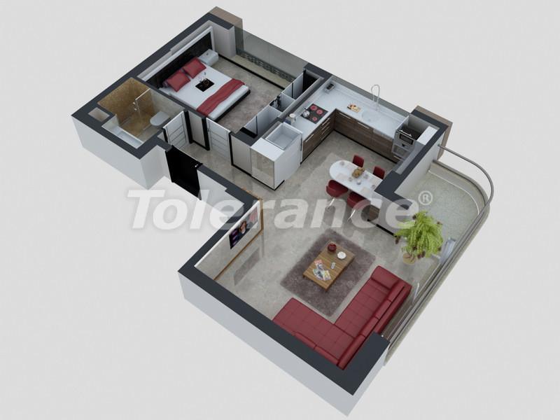 Квартиры в Коньяалты, Анталия с полным комплектом мебели и техники в 100 метрах от моря - 4092   Tolerance Homes