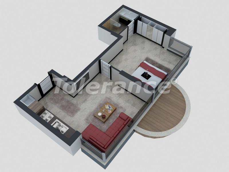 Квартиры в Коньяалты, Анталия с полным комплектом мебели и техники в 100 метрах от моря - 4089   Tolerance Homes