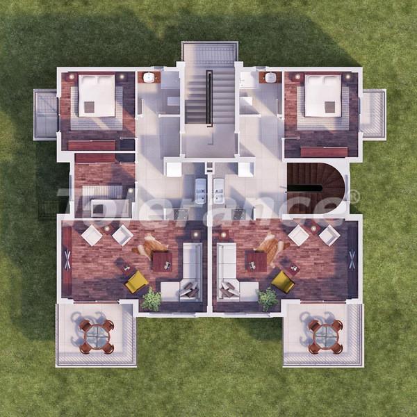 Квартиры в Каше в комплексе с бассейном в 500 метрах от моря - 6105 | Tolerance Homes