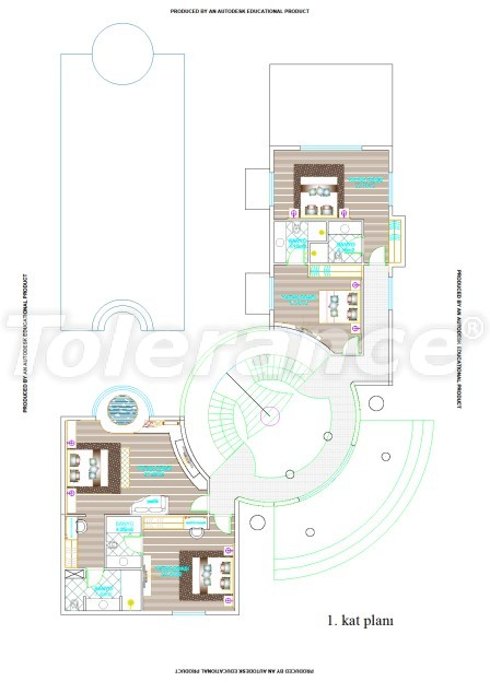 Элитные виллы в Белеке, Анталия с частным бассейном - 538 | Tolerance Homes