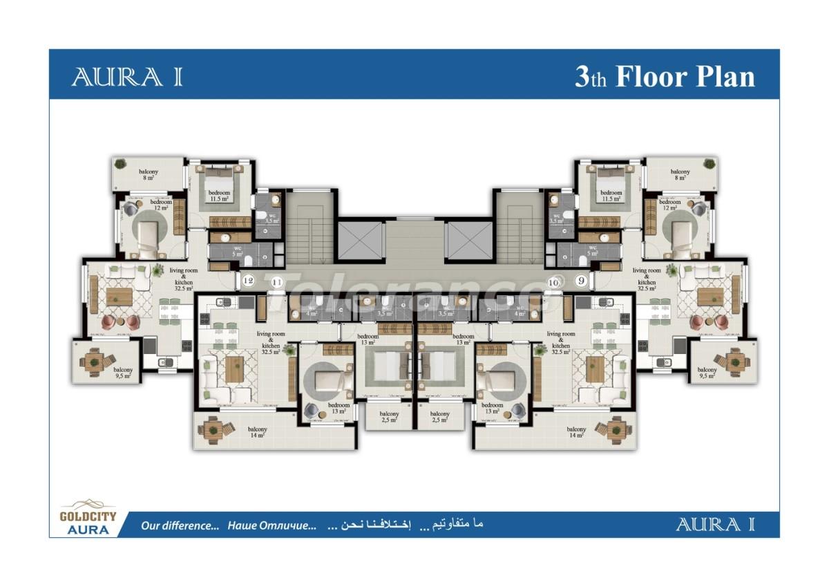 Квартиры в Махмутларе, Алания всего в  450 м от моря - 6498 | Tolerance Homes