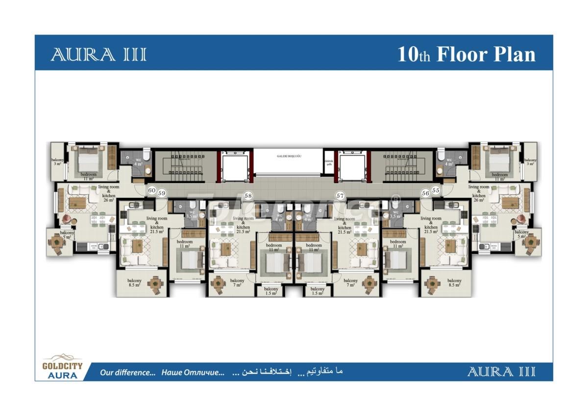Квартиры в Махмутларе, Алания всего в  450 м от моря - 6493 | Tolerance Homes