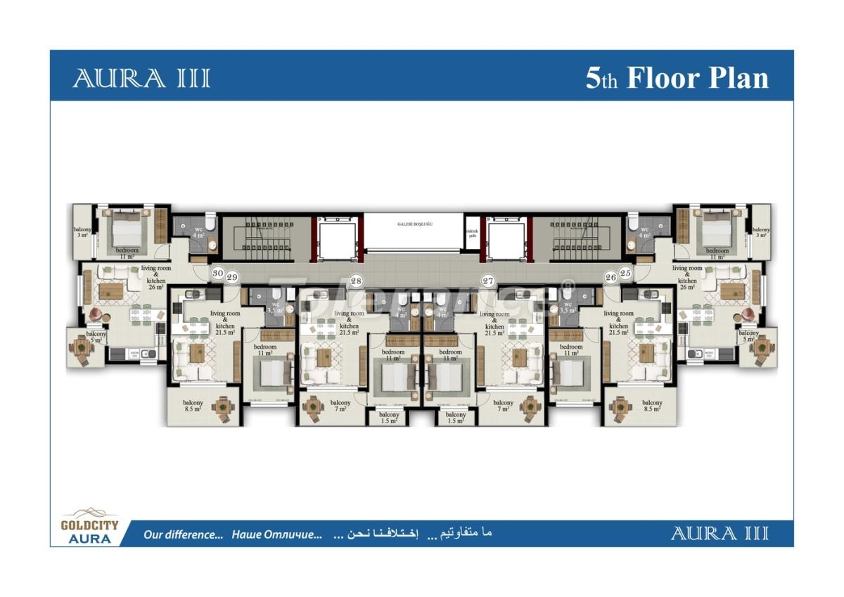 Квартиры в Махмутларе, Алания всего в  450 м от моря - 6488 | Tolerance Homes