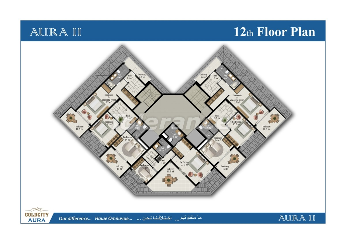 Квартиры в Махмутларе, Алания всего в  450 м от моря - 6517 | Tolerance Homes