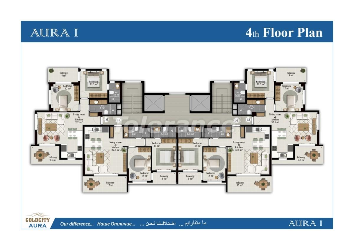 Квартиры в Махмутларе, Алания всего в  450 м от моря - 6499 | Tolerance Homes