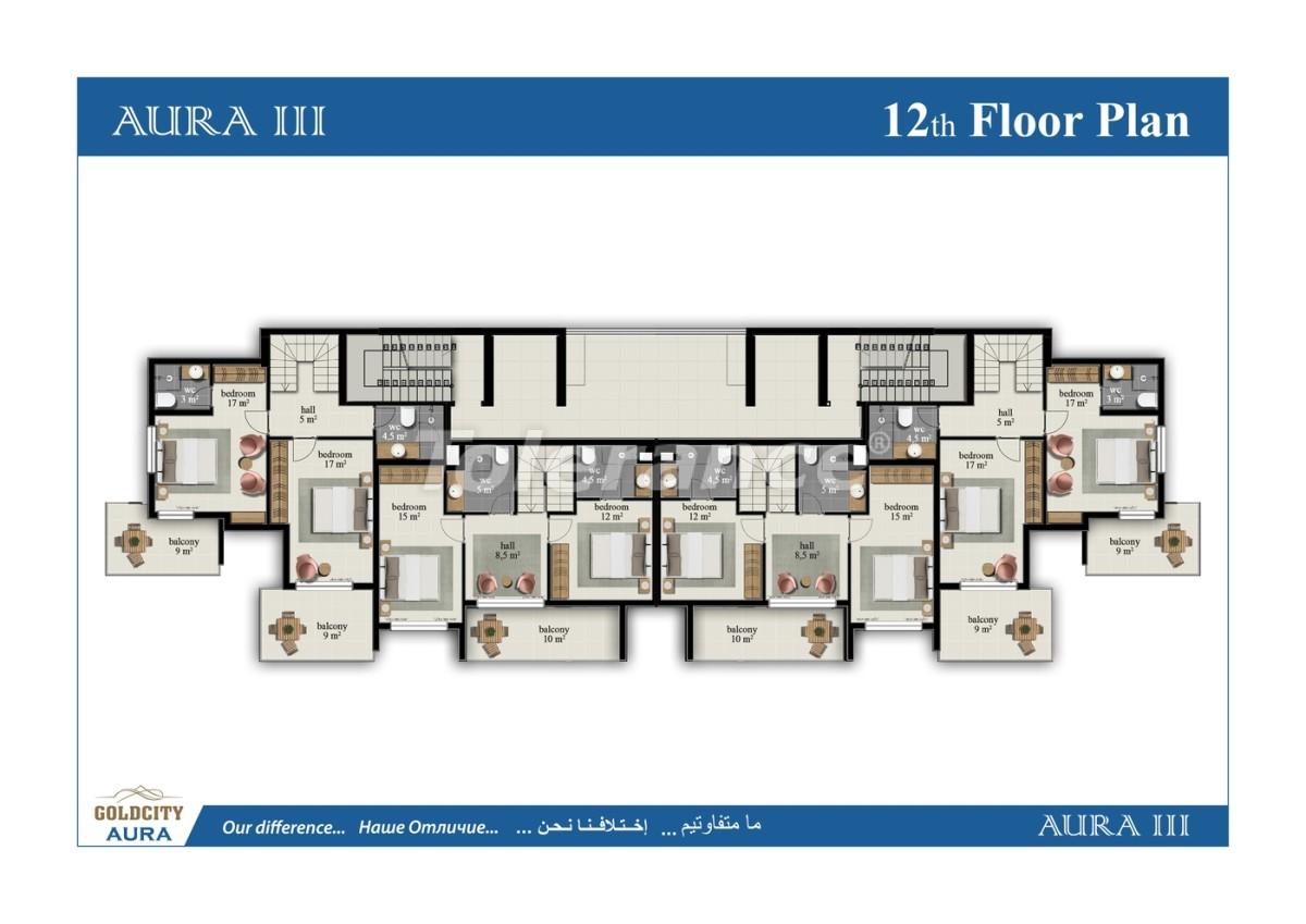 Квартиры в Махмутларе, Алания всего в  450 м от моря - 6495 | Tolerance Homes