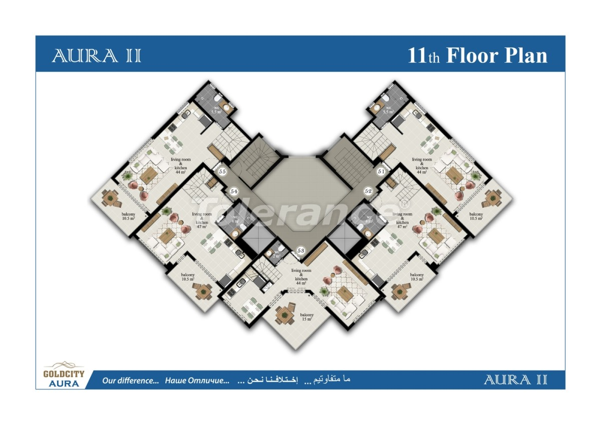 Квартиры в Махмутларе, Алания всего в  450 м от моря - 6516 | Tolerance Homes