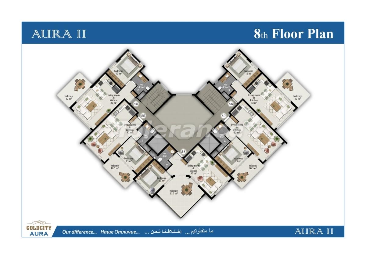 Квартиры в Махмутларе, Алания всего в  450 м от моря - 6513 | Tolerance Homes