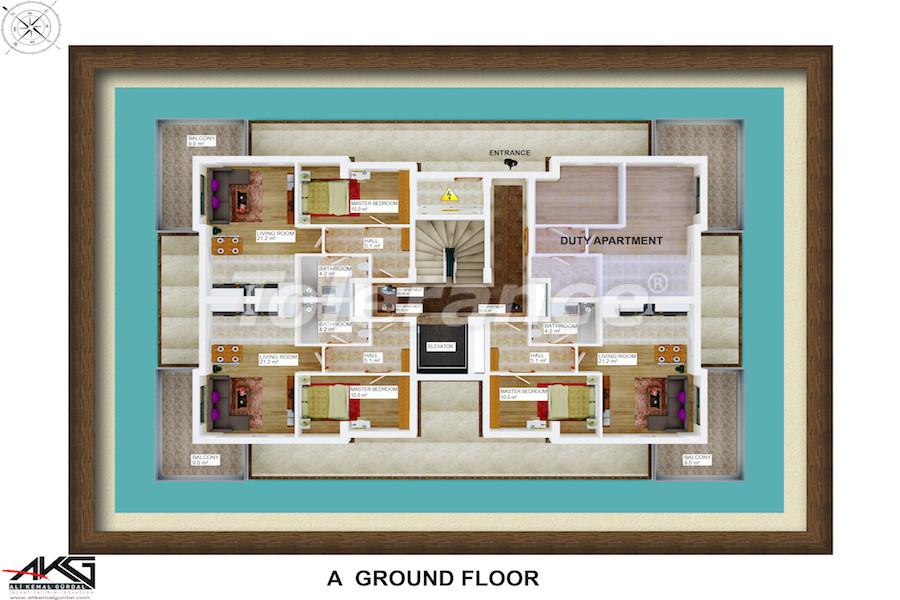Вторичная трехкомнатная квартира в Лимане, Коньяалты от надежного застройщика - 6711 | Tolerance Homes