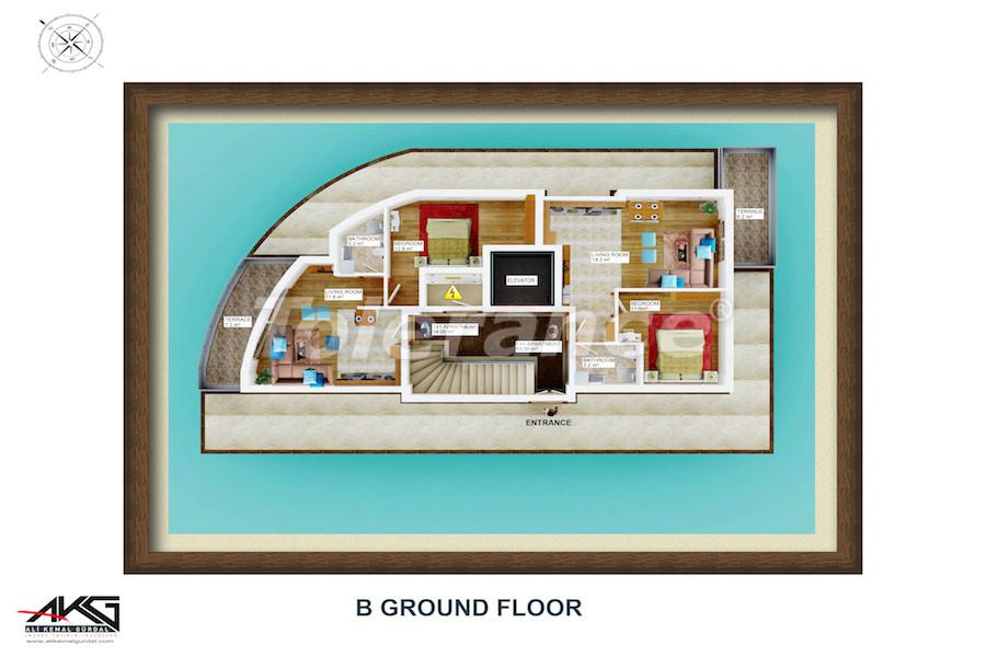 Вторичная трехкомнатная квартира в Лимане, Коньяалты от надежного застройщика - 6715 | Tolerance Homes