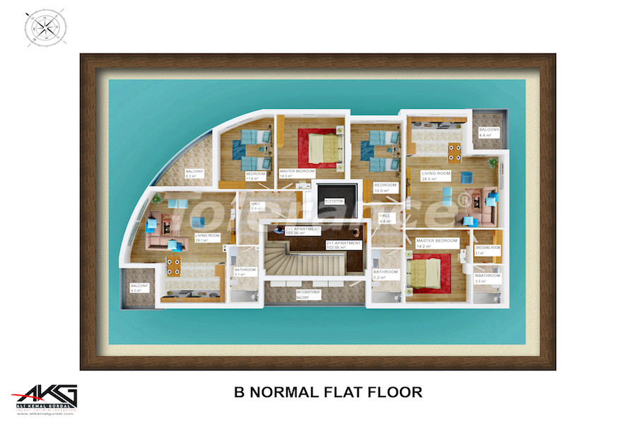 Вторичная трехкомнатная квартира в Лимане, Коньяалты от надежного застройщика - 6717 | Tolerance Homes