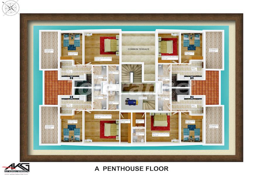 Вторичная трехкомнатная квартира в Лимане, Коньяалты от надежного застройщика - 6712 | Tolerance Homes