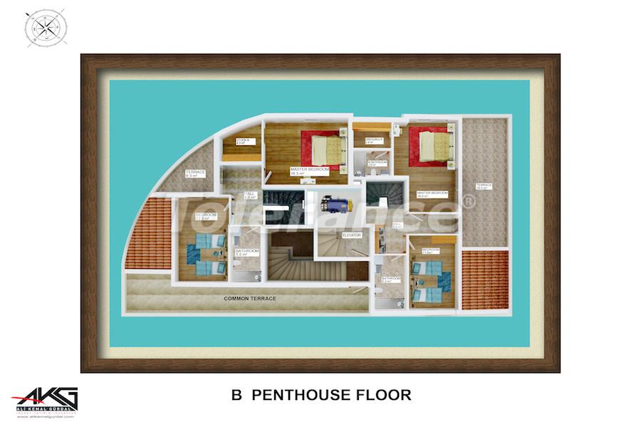 Вторичная трехкомнатная квартира в Лимане, Коньяалты от надежного застройщика - 6718 | Tolerance Homes