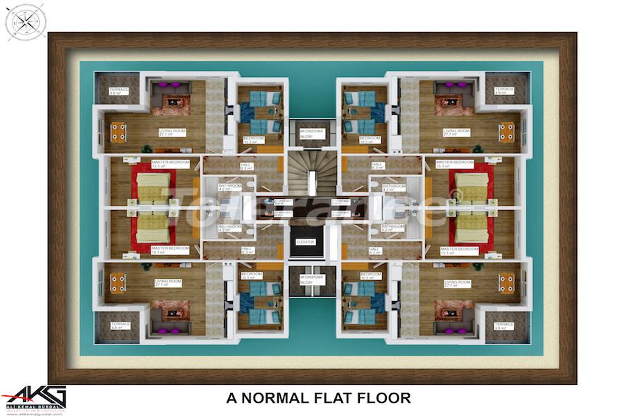 Вторичная трехкомнатная квартира в Лимане, Коньяалты от надежного застройщика - 6714 | Tolerance Homes