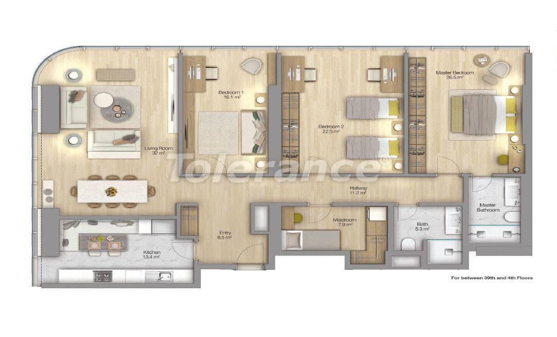 Роскошные квартиры в современном комплексе в Шишли, Стамбул с рассрочкой до 4-х лет с видом на Босфор - 18518 | Tolerance Homes